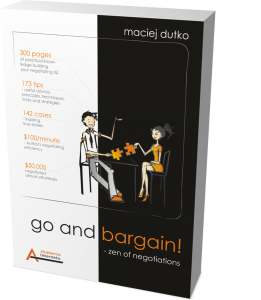 Maciej Dutko: Go and bargain! Zen of negotiations